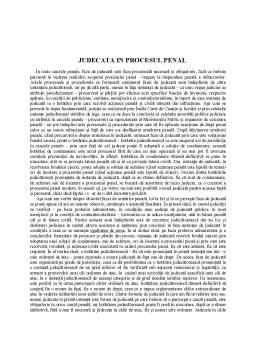 Curs - Judecata in Procesul Penal