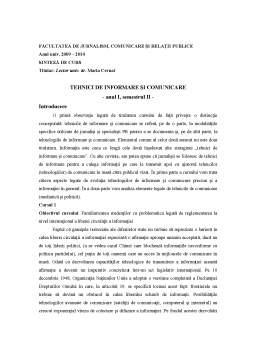 Curs - Tehnici de Comunicare și Informare