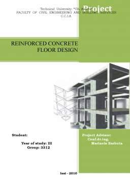 Proiect - Reinforced Concrete - Floor Design (Beton Armat)
