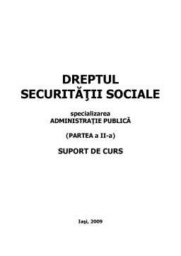 Curs - Dreptul Securității Sociale