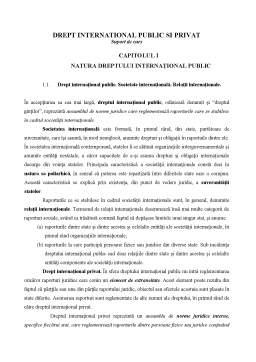Curs - Drept International Public si Privat
