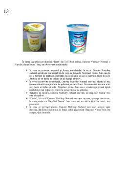 Proiect - Analiza Calitatii Senzoriale a Produsului Iaurt - Danone si Napolact