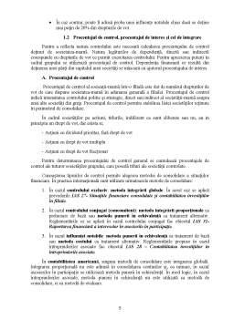Proiect - Situații Financiare Consolidate