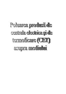 Referat - Poluarea Produsa de Centrala Electrica si de Termoficare (CET) Asupra Mediului