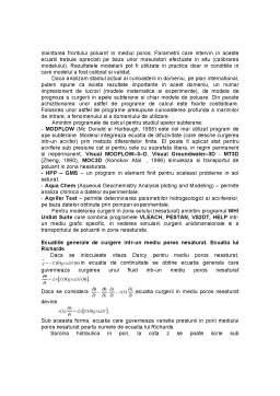 Curs - Cercetarea Experimentala si Modelarea Matematica a Poluarii Solului si a Apelor Subterane cu Compusi ai Azotului
