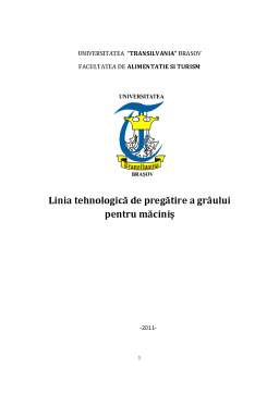 Proiect - Linia Tehnologică de Pregătire a Grâului pentru Măciniș