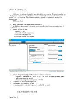 Proiect - Sisteme de Instruire Interactiva - Exemplul unei Aplicatii de E-Learning - Modelul AEL-Siveco