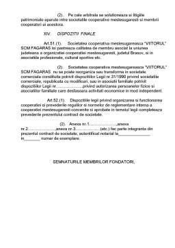 Proiect - Contract de Societate