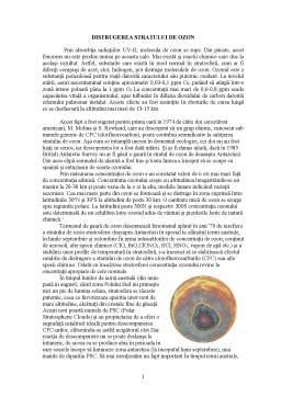 Proiect - Distrugere Stratului de Ozon