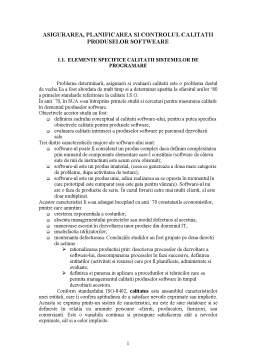 Referat - Asigurarea, Planificarea si Controlul Calitatii Produselor Softweare