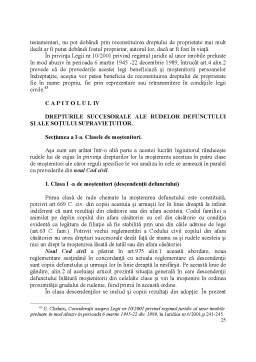 Proiect - Devolutiunea Succesorala Legala in Viziunea Actualului si Noului Cod Civil si Elemente de Drept Comparat