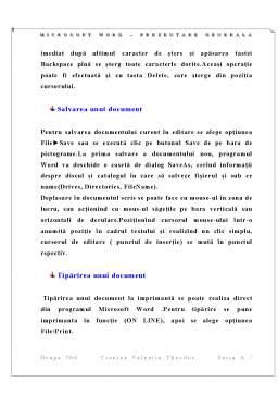 Referat - Proiect Informatica Microsoft WORD