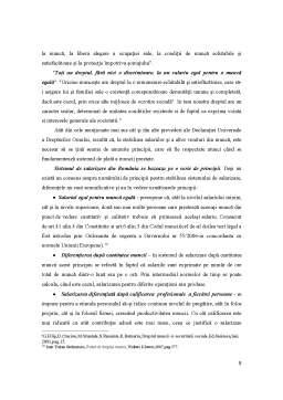 Referat - Dreptul Muncii - Dreptul la Salarizare in Reglementarea Romaneasca