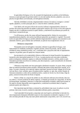 Referat - Tehnologii de Agricultura Organica