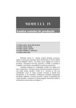 Curs - Analiza economico-financiară