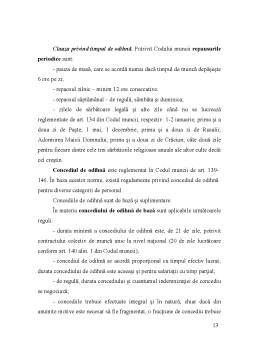 Curs - Continutul Contractului Individual de Munca 2011