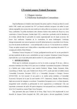 Referat - Tratatul asupra Uniunii Europene și Politica Socială
