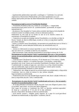 Curs - Drept Parlamentar - Sinteza Materie