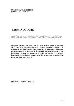 Curs - Criminologie