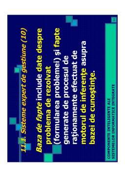Curs - Componente Inteligente ale Sistemelor Informatice