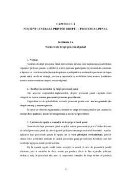 Curs - Drept Procesual Penal - Partea Generala