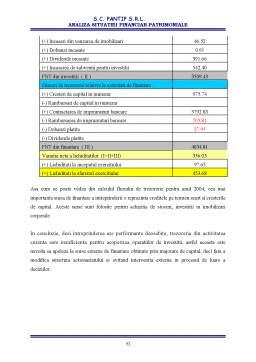 Licență - Analiza Situatiei Financiar-patrimoniale la SC Pantip SRL