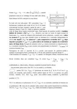 Curs - Tranzistorul cu Efect de Camp (TEC)- Field Effect Transistor - FET