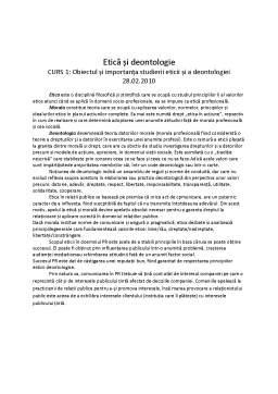 Curs - Etica si Deontologie Profesionala