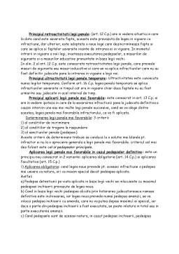 Curs - Drept Penal - Partea Generala I