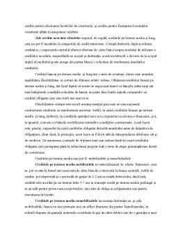 Proiect - Creditarea Bancara