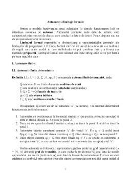 Curs - Limbaje Formale și Compilatoare
