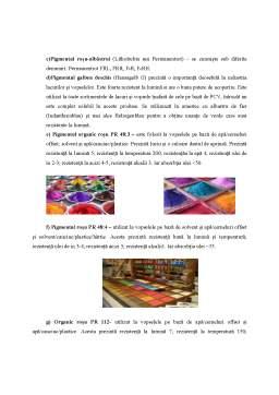 Proiect - Pigmenți Organici