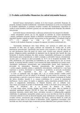 Referat - Sistemul Bancar Internațional