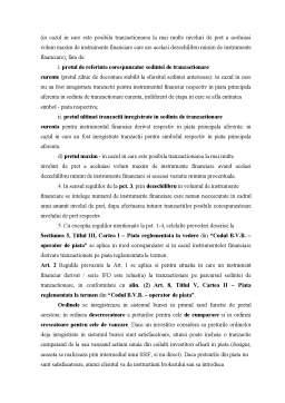 Referat - Listarea Actiunilor la Cota Bursei de Valori Bucuresti