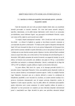 Curs - Drepturile Omului în Legislația Internațională
