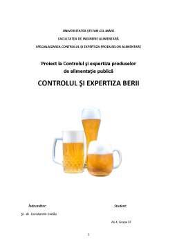 Proiect - Controlul și Expertiza Berii