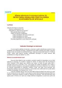 Curs - Detectarea Disimulării prin Folosirea Echipamentelor Speciale