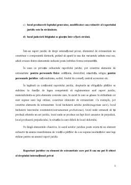 Curs - Raportul Juridic in Dreptul International Privat
