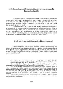 Referat - Izvoarele Dreptului Internațional Public