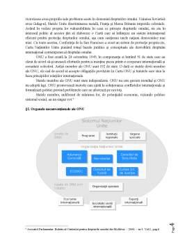 Curs - Cadrul Instituțional al ONU în Materia Drepturilor Omului