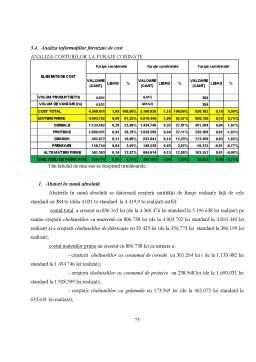 Proiect - Costurile și Calculația Lor în Contabilitatea de Gestiune