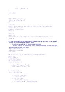Proiect - Probleme Rezolvate în C