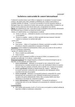 Curs - Incheierea Contractului de Comert International