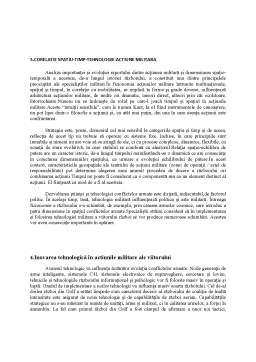 Referat - Corelatie Spatiu-Timp-Tehnologie - Actiune Militara Strategica