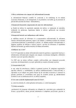 Notiță - Gestiunea Sistemelor ERP