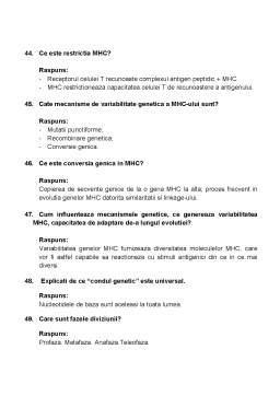 Notiță - Intrebari Genetica Examen Titu Maiorescu