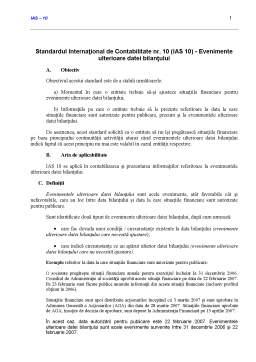 Curs - Standardul International de Contabilitate 10