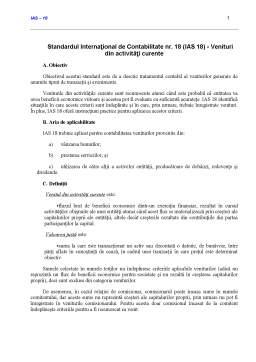 Curs - Standardul International de Contabilitate  18