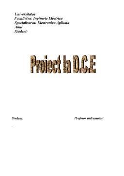 Proiect - Proiect la Dispozitive și Circuite Electrice