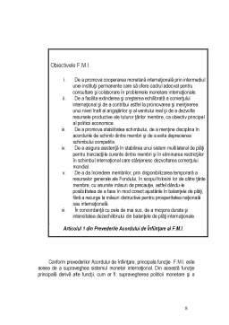 Referat - Fondul Monetar Internațional
